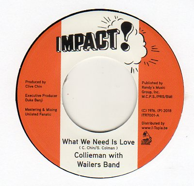 Collieman With Wailers Band - What We Need Is Love
